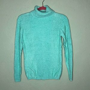 Sundance Mint Green Turtleneck Sweater Small